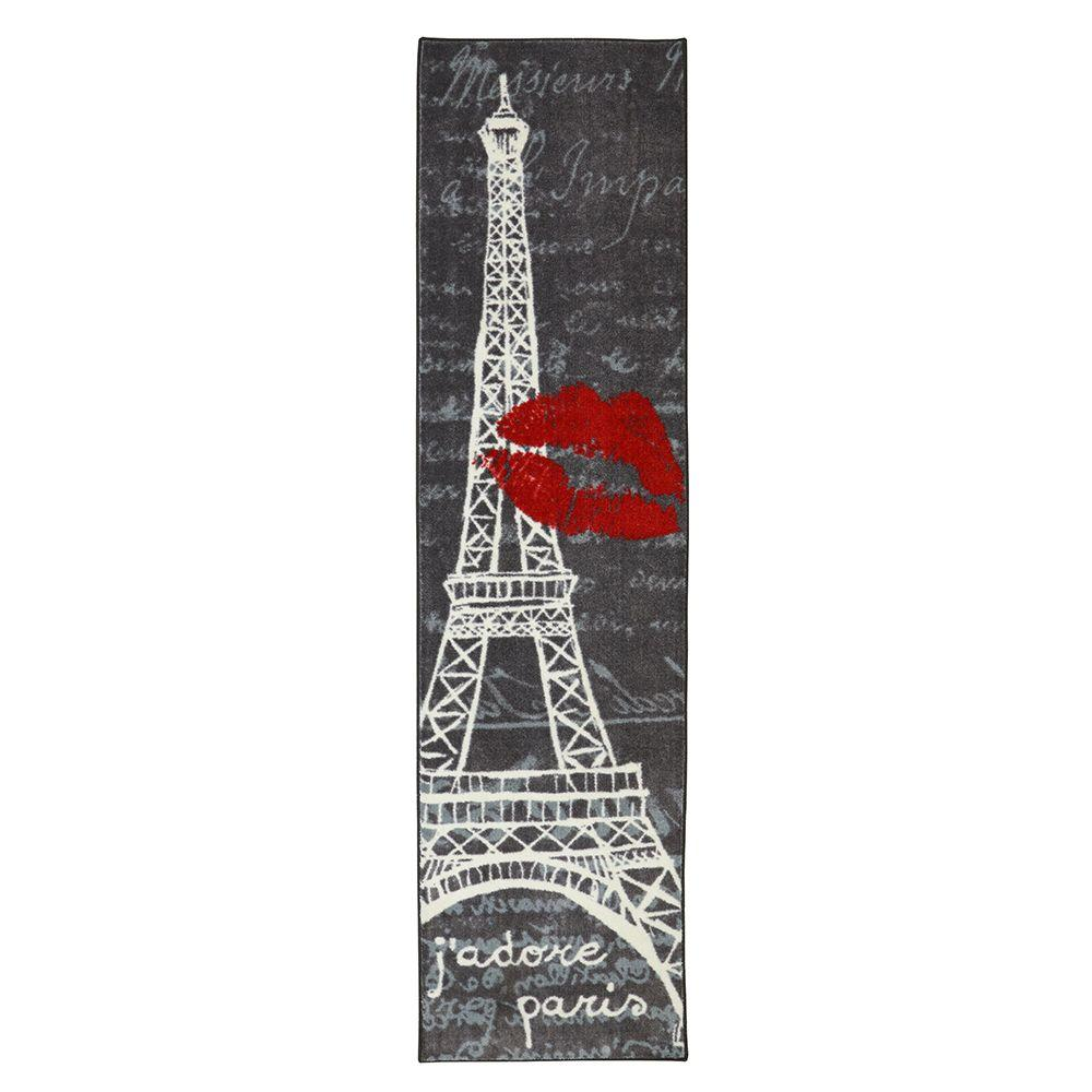 MOHAWK Paris Love Eiffel Tower Urban Multi 2 ft. x 8 ft. ...