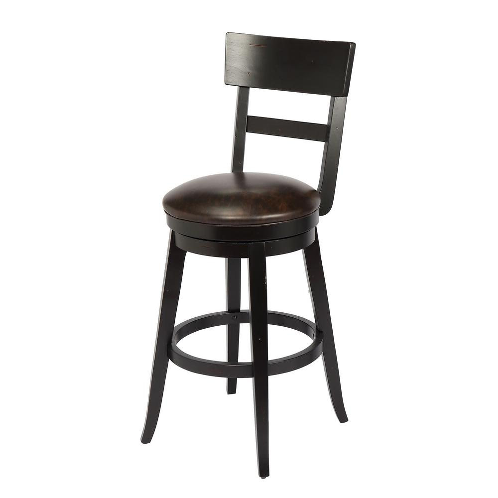 Alex 29 in. Black Bar Height Swivel Stool (Individual)
