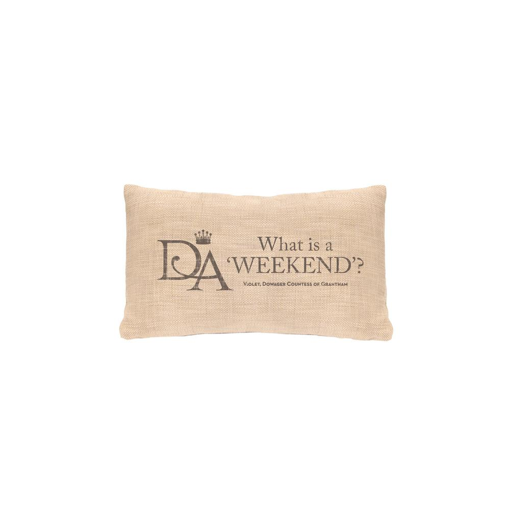 Violet's Wisdom Natural Weekend Decorative Pillow