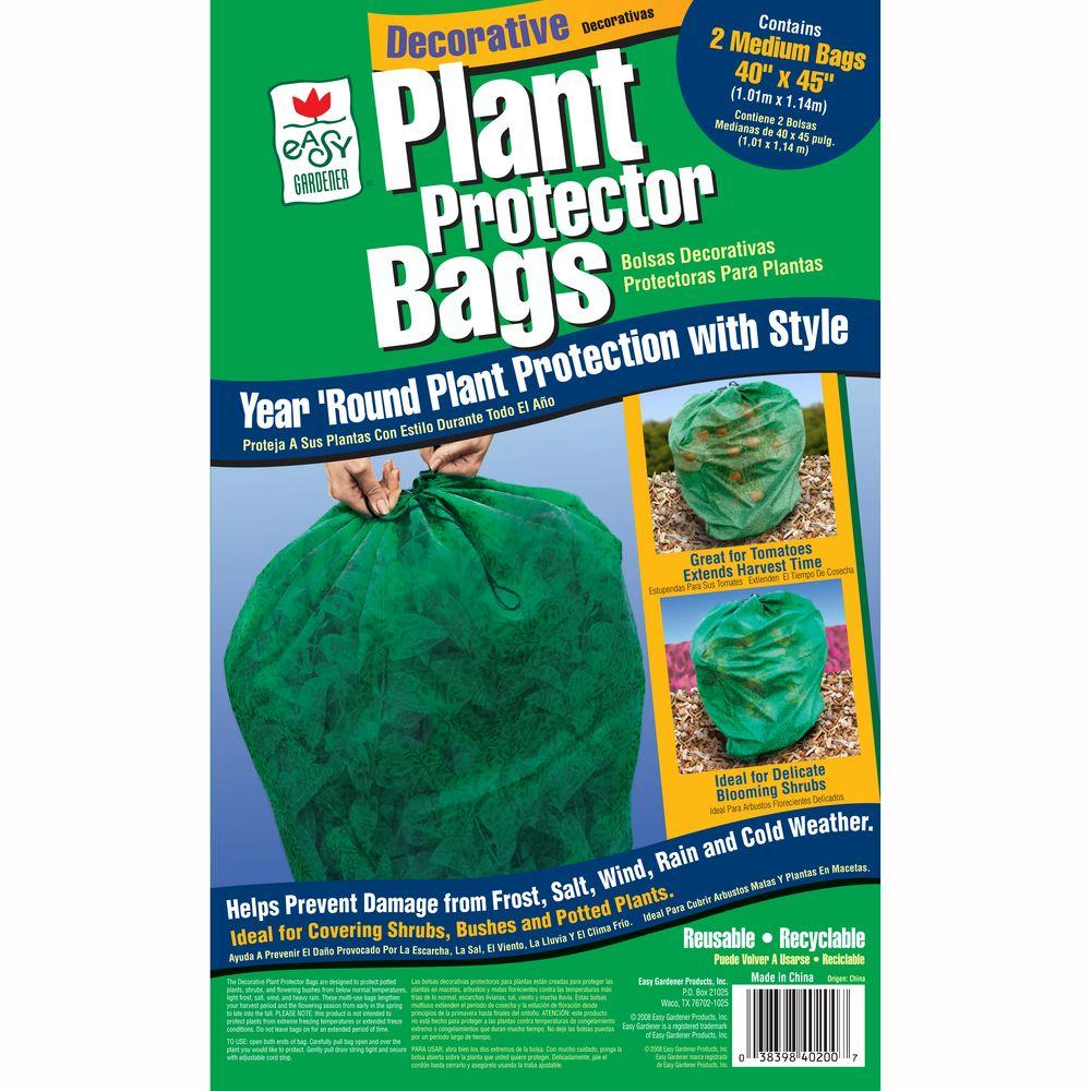 40 in. x 45 in. Plant Frost Protection Bag Green (2-Pack)