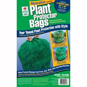 Easy Gardener 40 In. X 45 In. Plant Frost Protection Bag Green  (2 Pack) 40200   The Home Depot