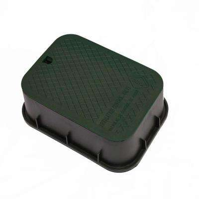 15 in. x 21 in. x 6 in. Deep Rectangular Valve Box in Black Body Black Lid