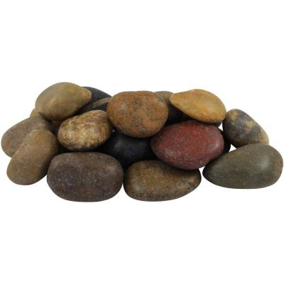 1 in. to 2 in., 2200 lb. Medium Mixed Grade A Polished Pebbles Super Sack
