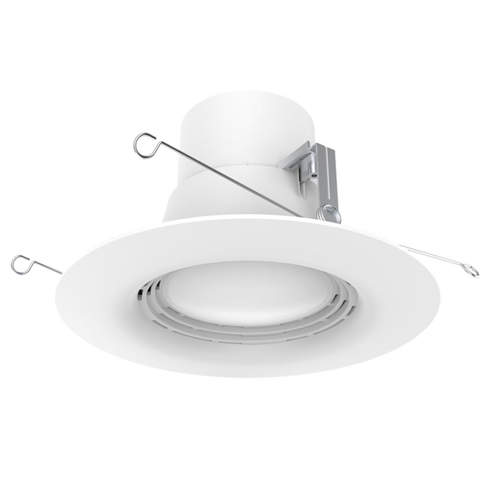 6 in. White Integrated LED Recessed Trim