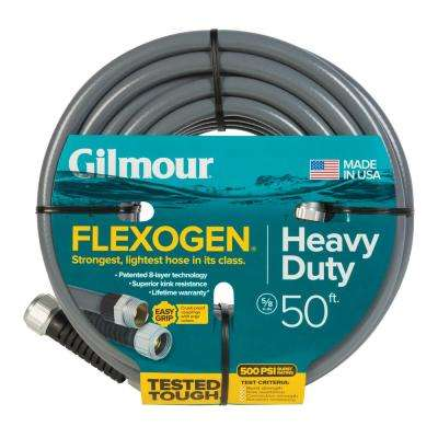 5/8 in. Dia x 50 ft. Gray Flexogen Heavy Duty Garden Water Hose