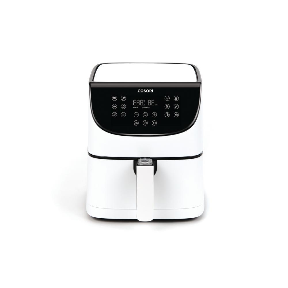 Premium 3.7 Qt. White Air Fryer with Skewer Rack