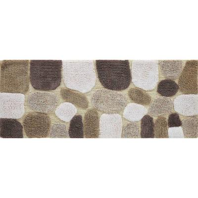 Pebbles Safari 24 in. x 60 in. Bath Runner