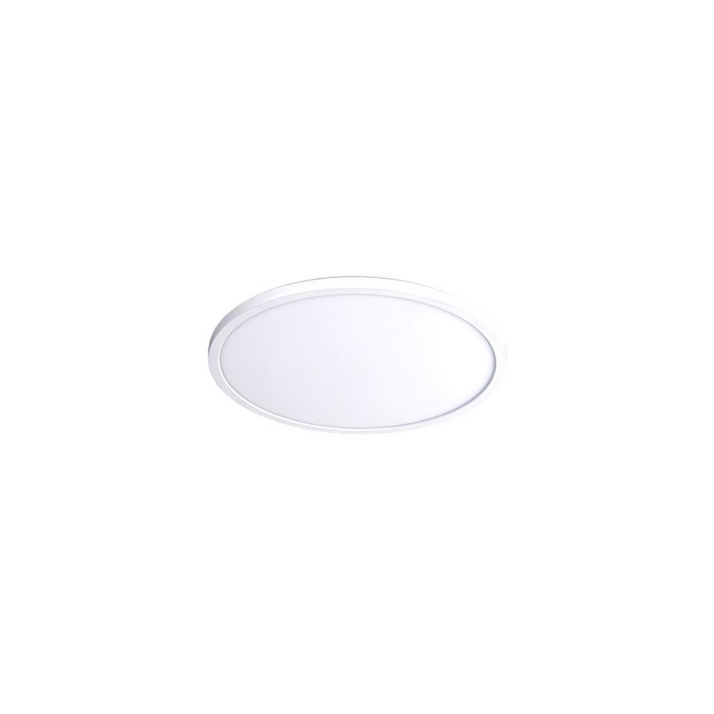 Round 7 in. 1-Light White LED Flush Mount