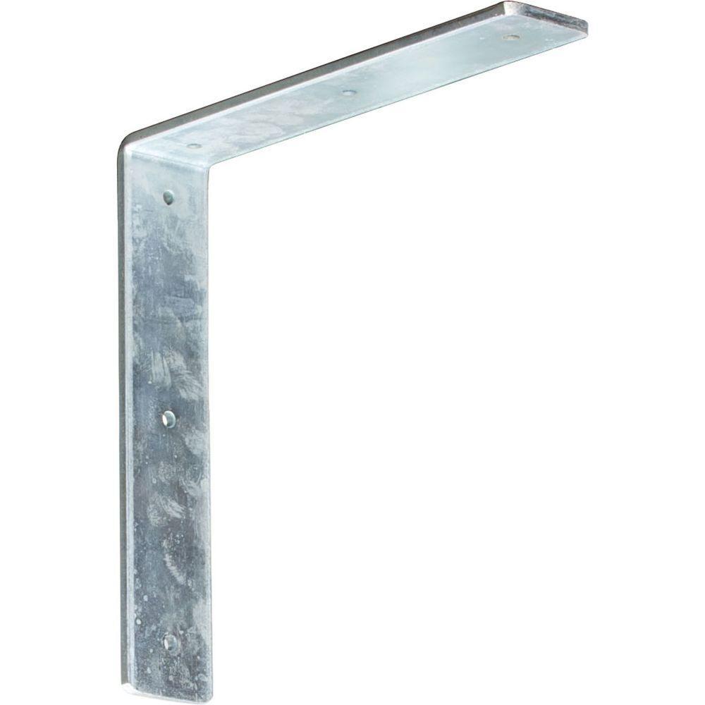 10 in. x 2 in. x 10 in. Steel Unfinished Metal Hamilton Bracket