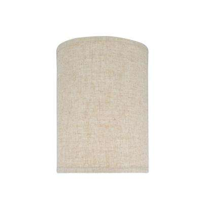 8 in. x 11 in. Beige Hardback Drum/Cylinder Lamp Shade