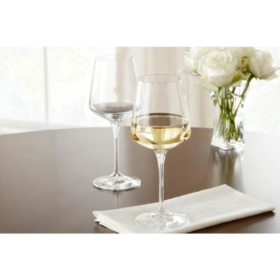 Genoa 15.5 fl. oz. Lead-Free Crystal White Wine Glasses (Set of 8)