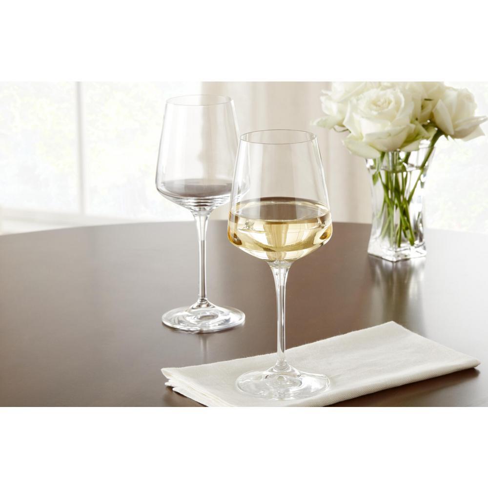 Genoa 15.5 fl. oz. Lead-Free Crystal White Wine Glasses (Set of 4)