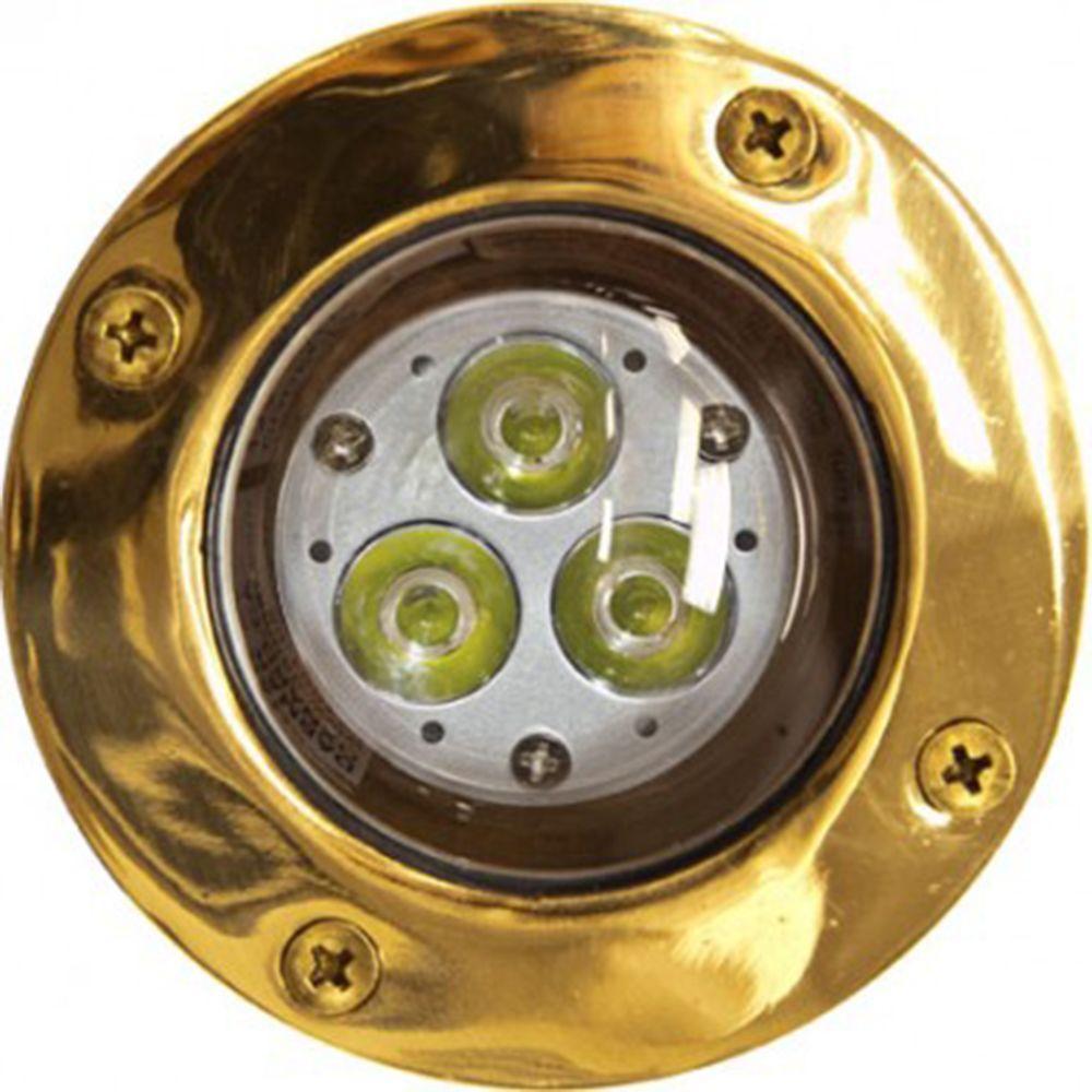 Brantley 3-Light Brass Outdoor LED In-Ground Well Light