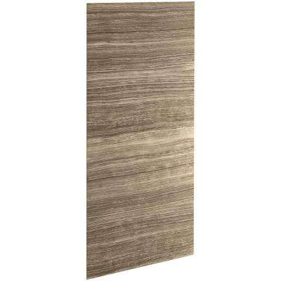 Choreograph 0.3125 in. x 42 in. x 96 in. 1-Piece Shower Wall Panel in VeinCut Sandbar for 96 in. Showers