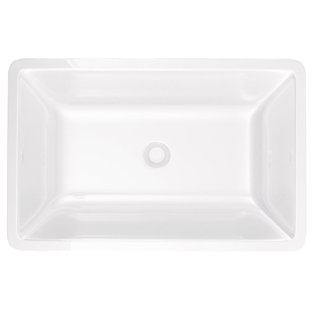 Vigo flat edged rectangular phoenix stone vessel bathroom for Flat bathroom sinks