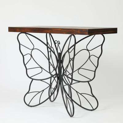 Butterfly Natural Accent Table