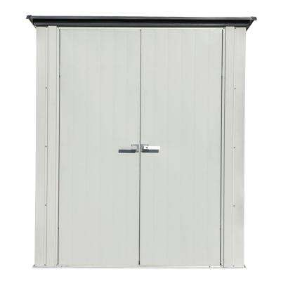 3 ft. x 5 ft. Grey Flute and Anthracite Space Maker Patio Shed