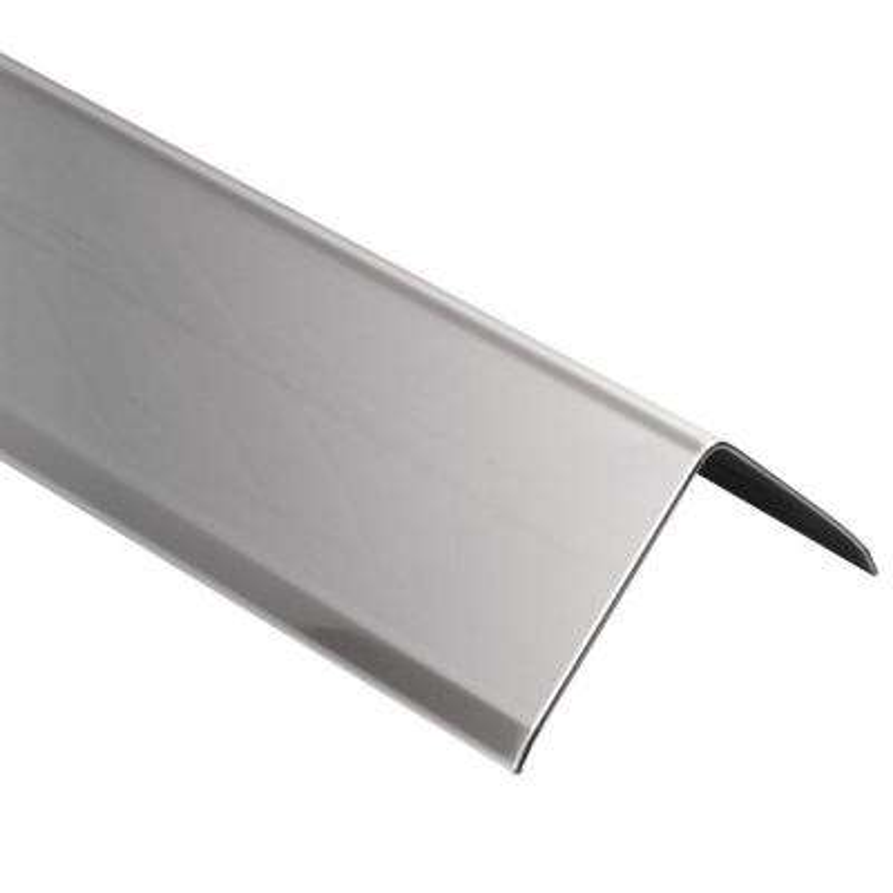 ECK-K Stainless Steel 1-9/32 in. x 4 ft. 11 in. Metal Corner Tile Edging Trim