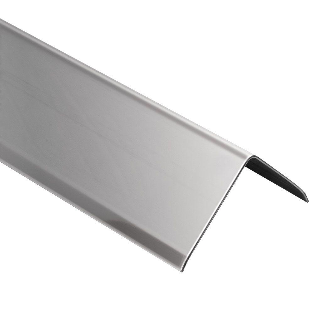 ECK-K Stainless Steel 1-9/32 in. x 6 ft. 7 in. Metal Corner Tile Edging Trim