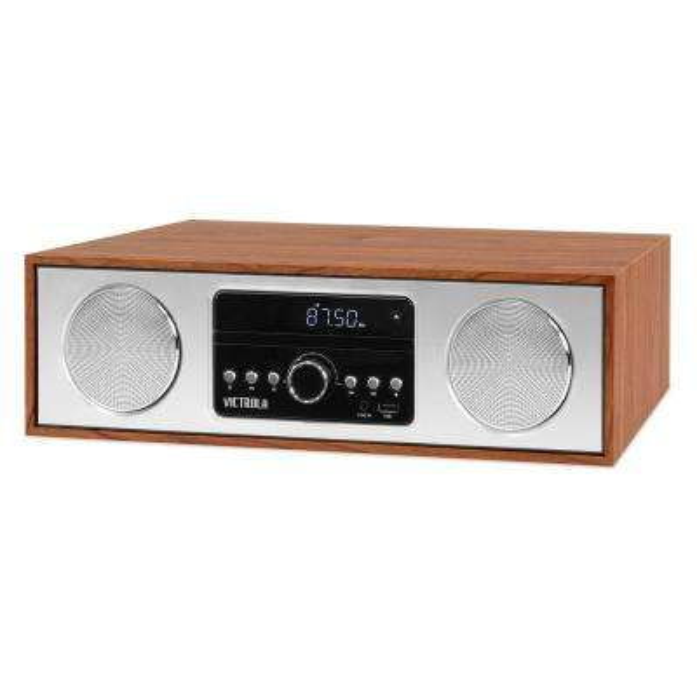 30-Watt Wooden Bluetooth Microsystem with CD, USB and Radio