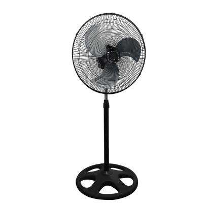 18 in. Premium Large High Velocity Industrial Floor Fan Stand Mount Oscillating - Cool Black and Silver