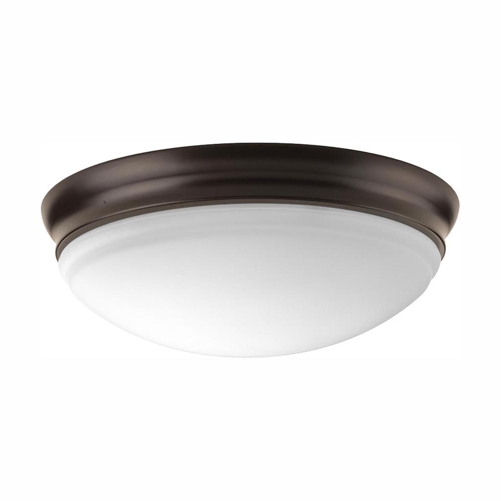 LED Flush Mount Collection 17-Watt Antique Bronze Integrated LED Flush Mount