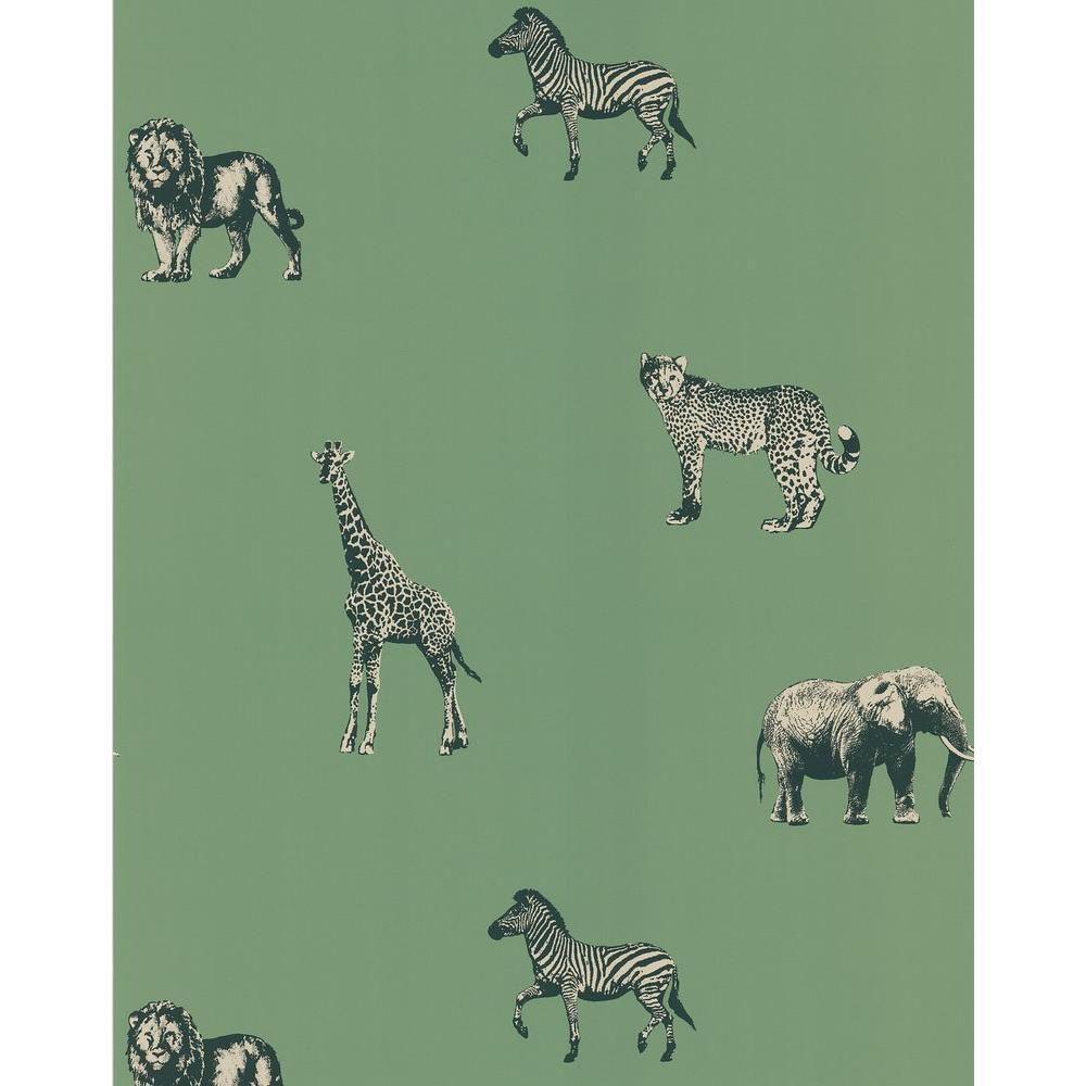 Green Safari Wallpaper Sample