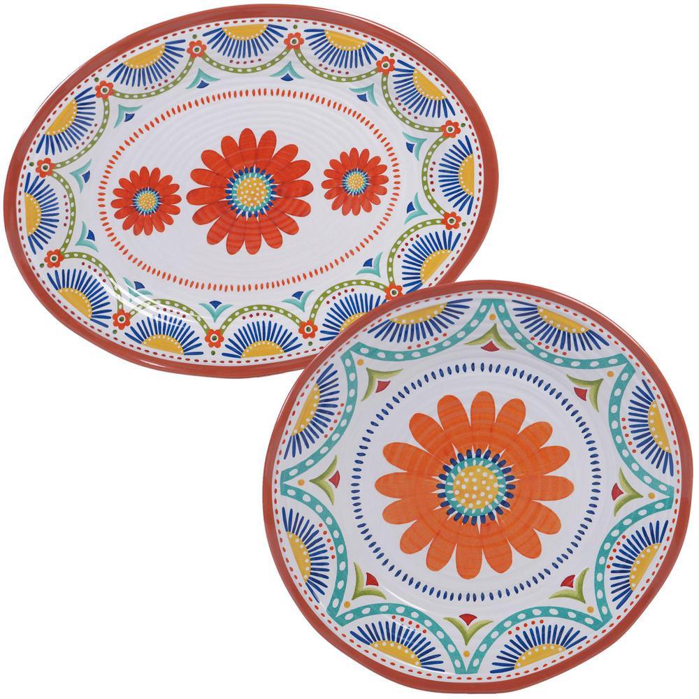Vera Cruz 2-Piece Melanine Platter Set