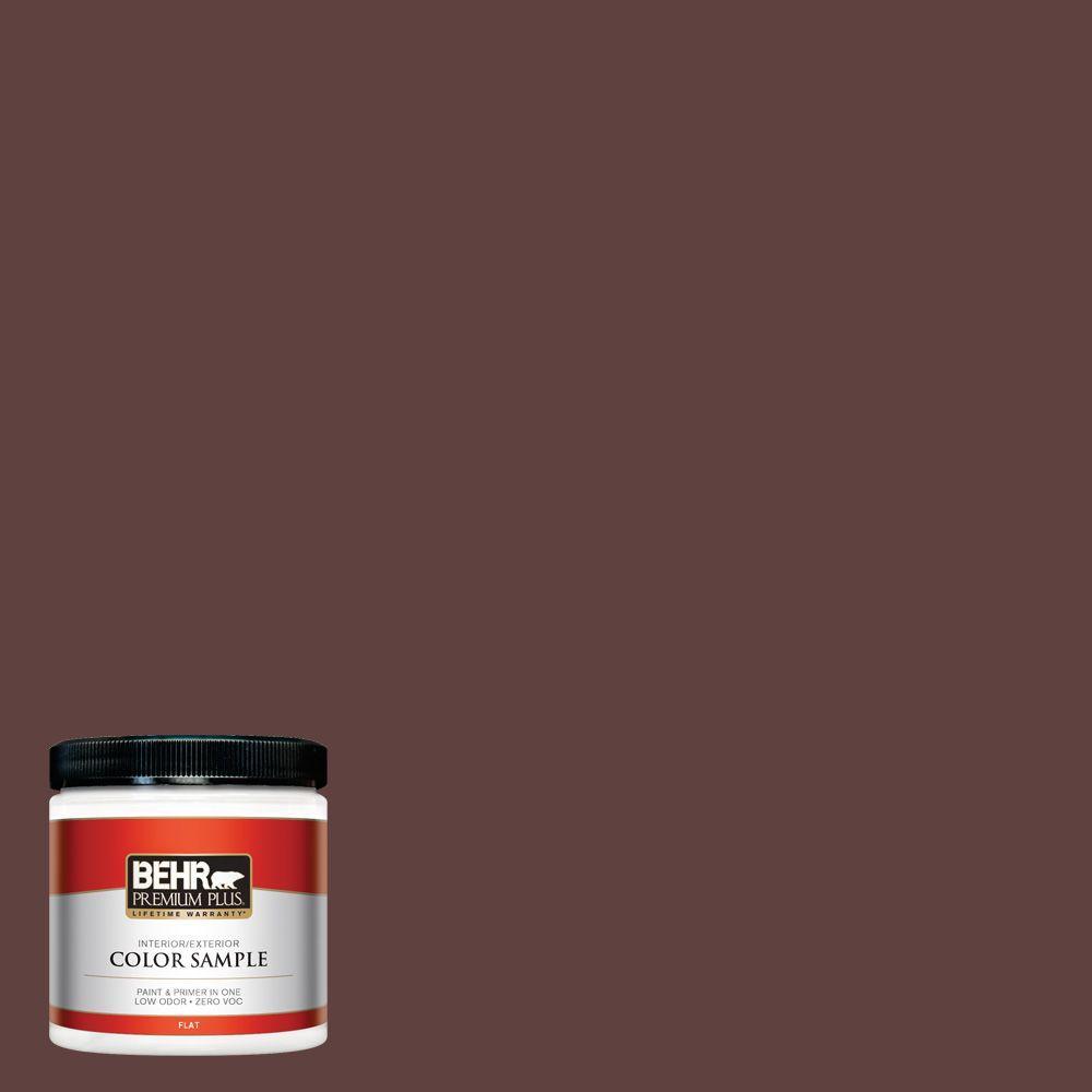 BEHR Premium Plus 8 oz. #BXC-21 Chicory Root Interior/Exterior Paint Sample