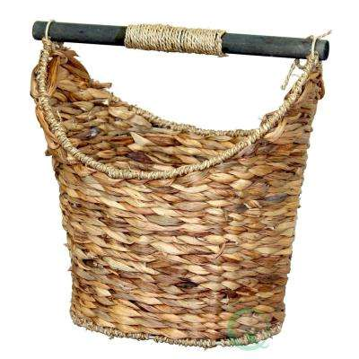14.5W X 13.7/8H X 10D Rustic Willow Toilet Paper Holder   Magazine Basket