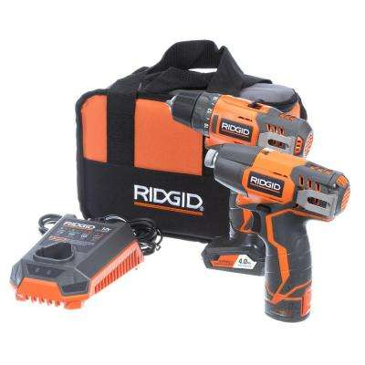 12-Volt Lithium-Ion Cordless Drill/Driver and Impact Driver Combo Kit with 2-Batteries, Charger and Bag