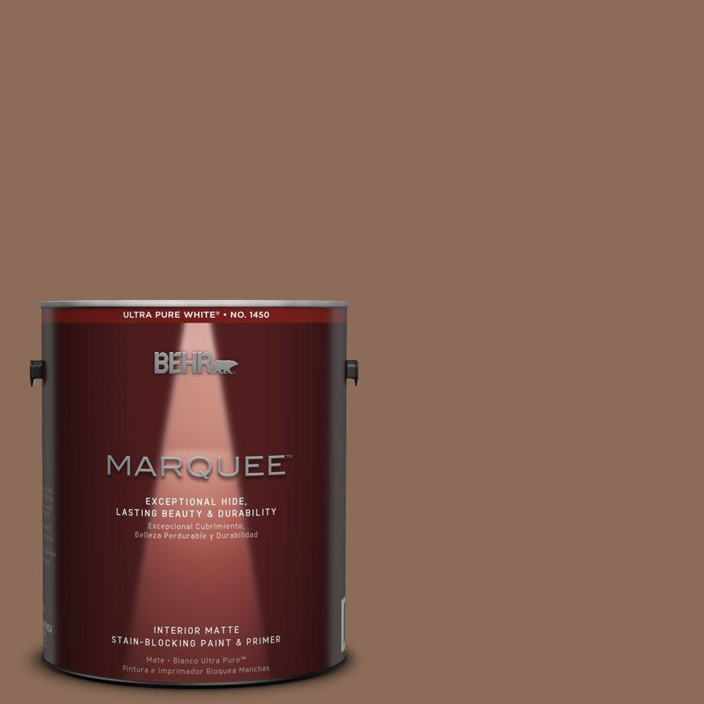 BEHR MARQUEE 1 gal. #MQ2-43 Antiquities One-Coat Hide Matte Interior Paint