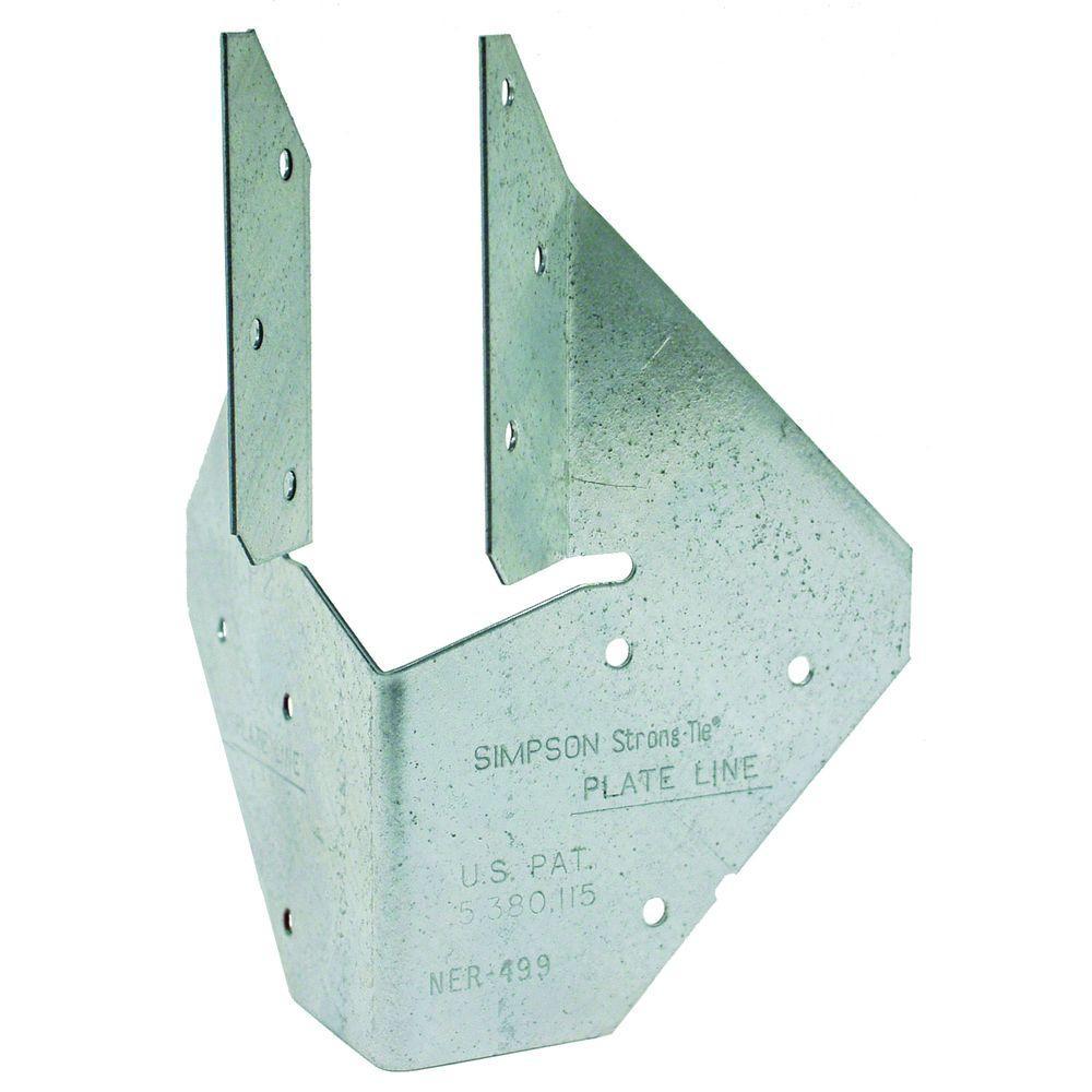 HCP 1-3/4 in. 18-Gauge Galvanized Hip Corner Plate