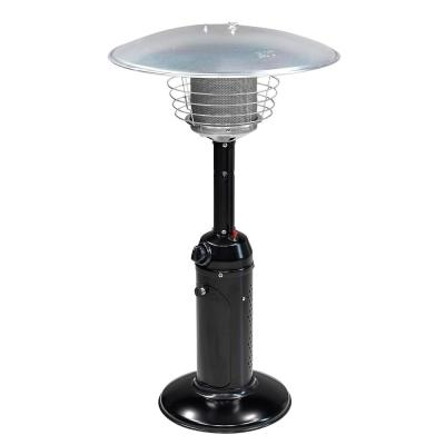 39 in. Tall 11,000 BTU Portable Outdoor Propane Table Top Patio Heater, Quick Pulse Ignition, Auto Shut Off, Black