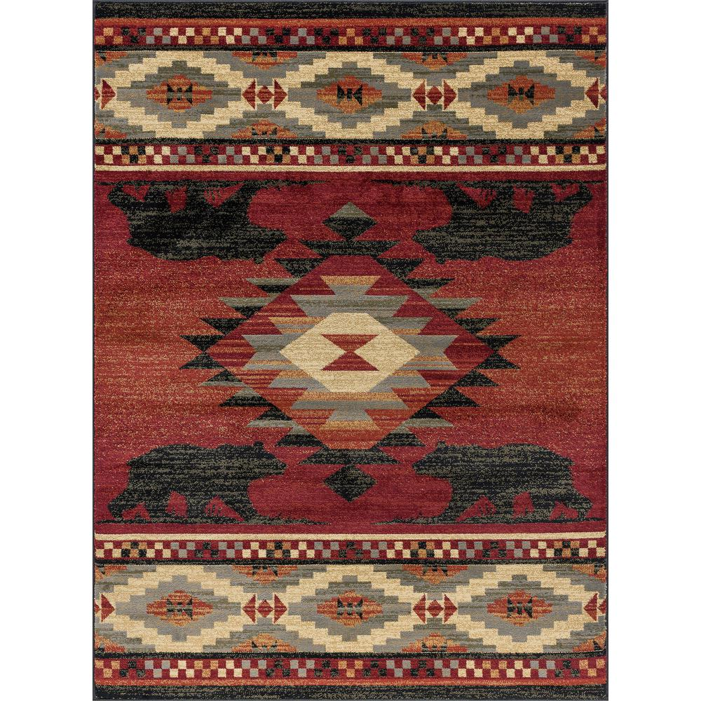 Tayse Rugs Nature Red 3 Ft 11 In X 5 Ft 3 In Area Rug Ntr6900