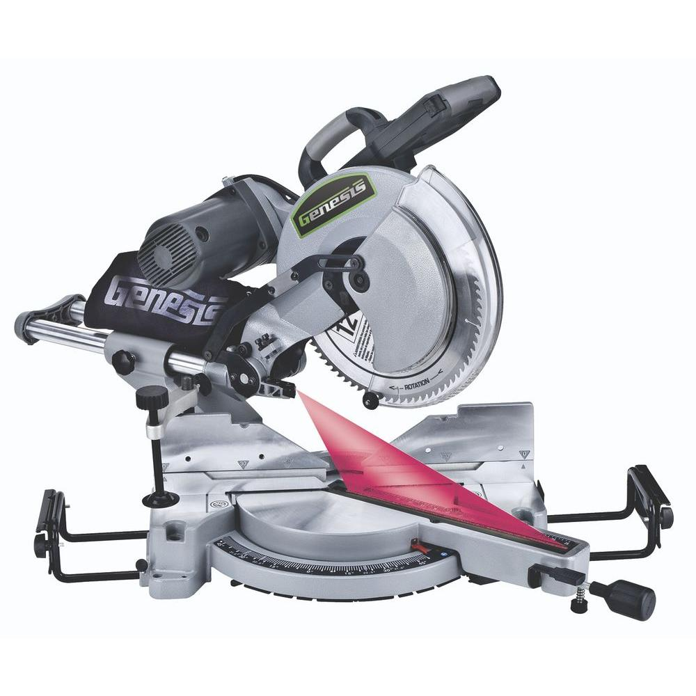Genesis 12 in. Dual Bevel Sliding Compound Miter Saw