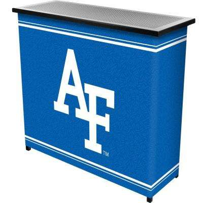Air Force Falcons 2-Shelf Black Bar with Case