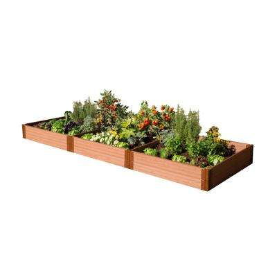 One Inch Series 4 ft. x 12 ft. x 11 in. Composite Raised Garden Bed Kit