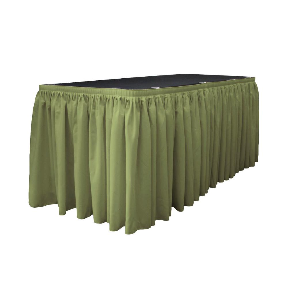 17 ft. x 29 in. Long Dark Sage Polyester Poplin Table