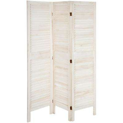 6 ft. White Classic Venetian 3-Panel Room Divider