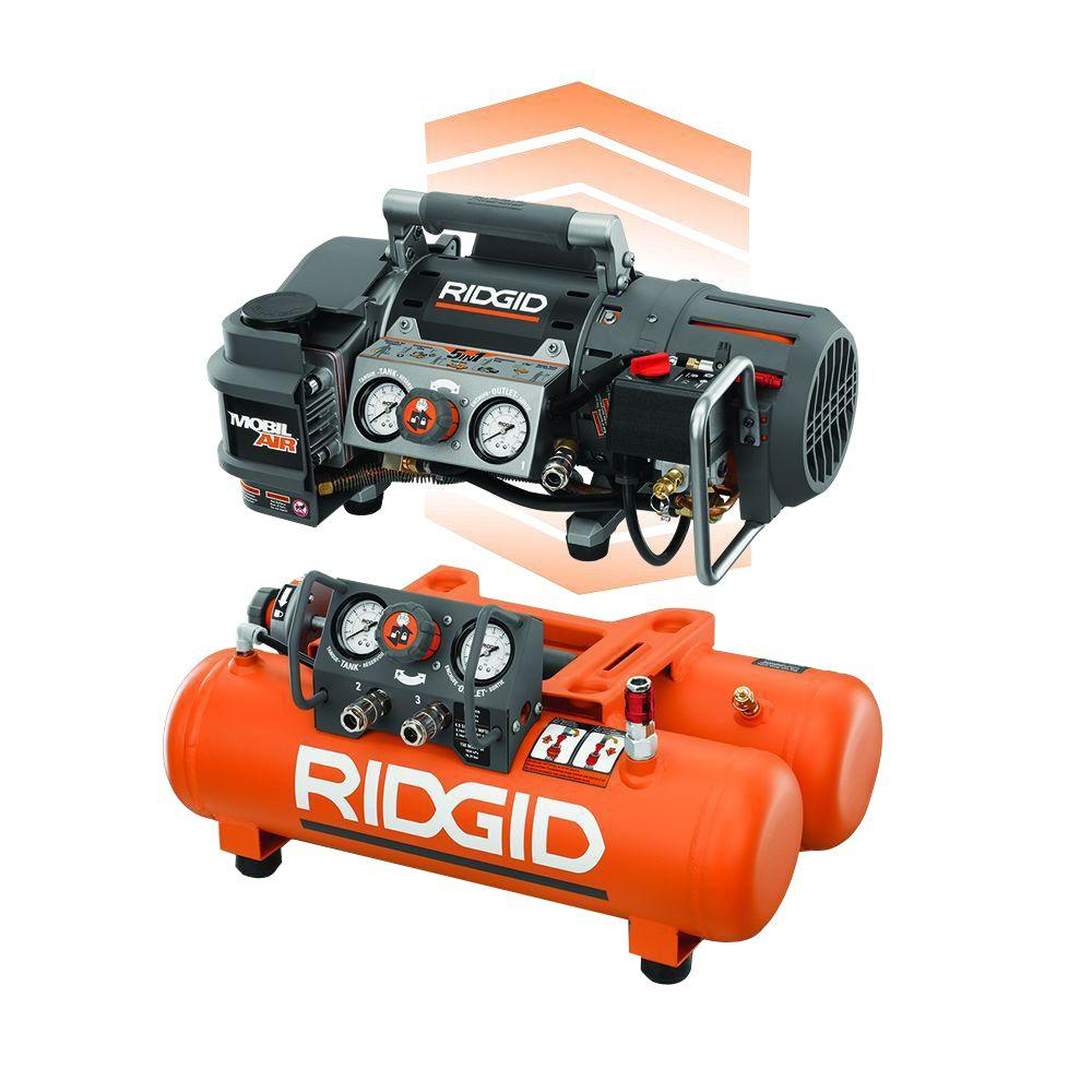 ridgid tri stack 5 gal portable electric steel orange air rh homedepot com
