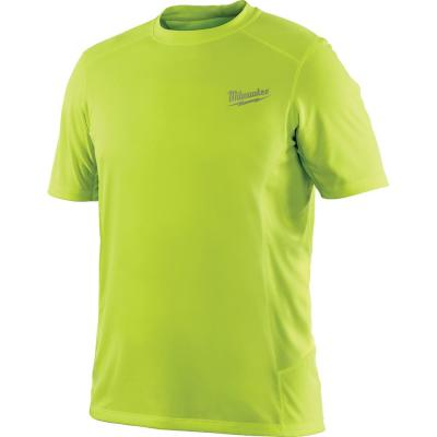 Men's Extra-Large Workskin High Visibility Yellow Light Weight Performance Shirt