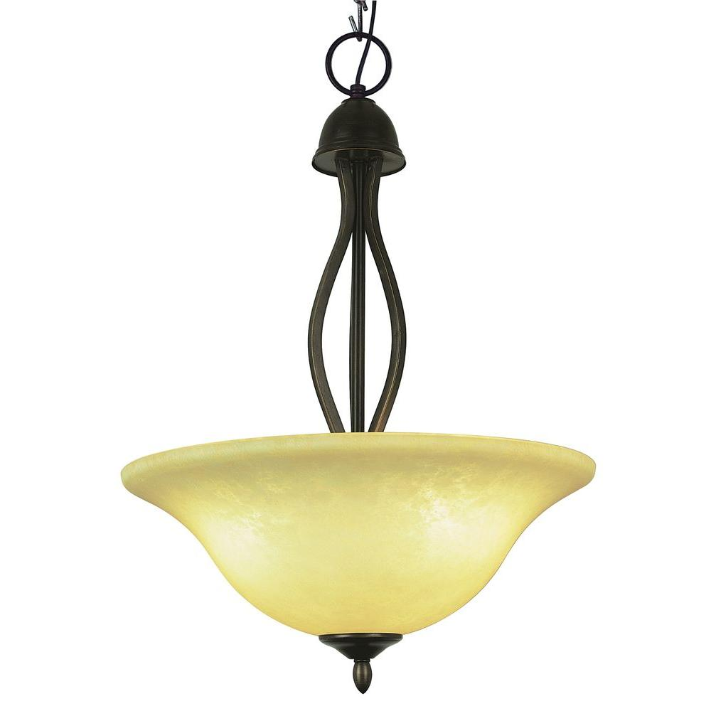 Bel Air Lighting Stewart 3-Light Rubbed Oil Bronze CFL Ceiling Pendant