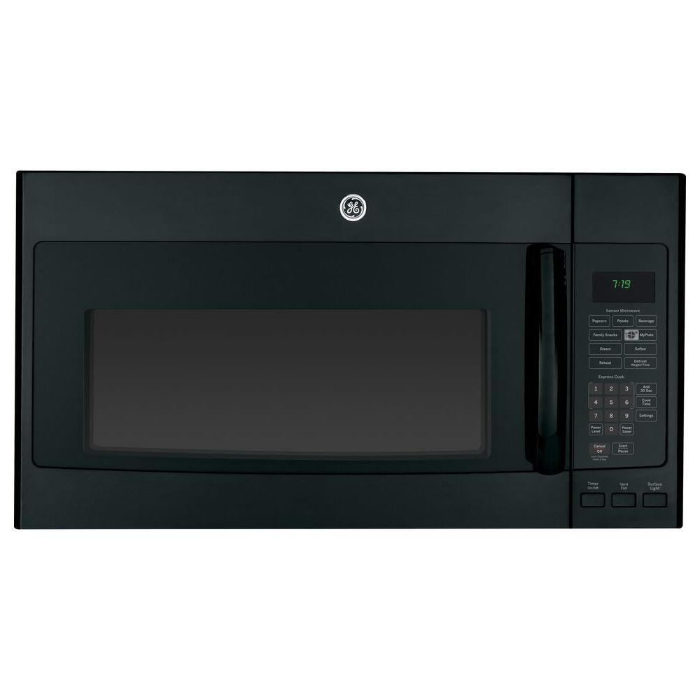 GE 1.9 cu. ft. Over the Range Microwave in Black with Sensor Cooking