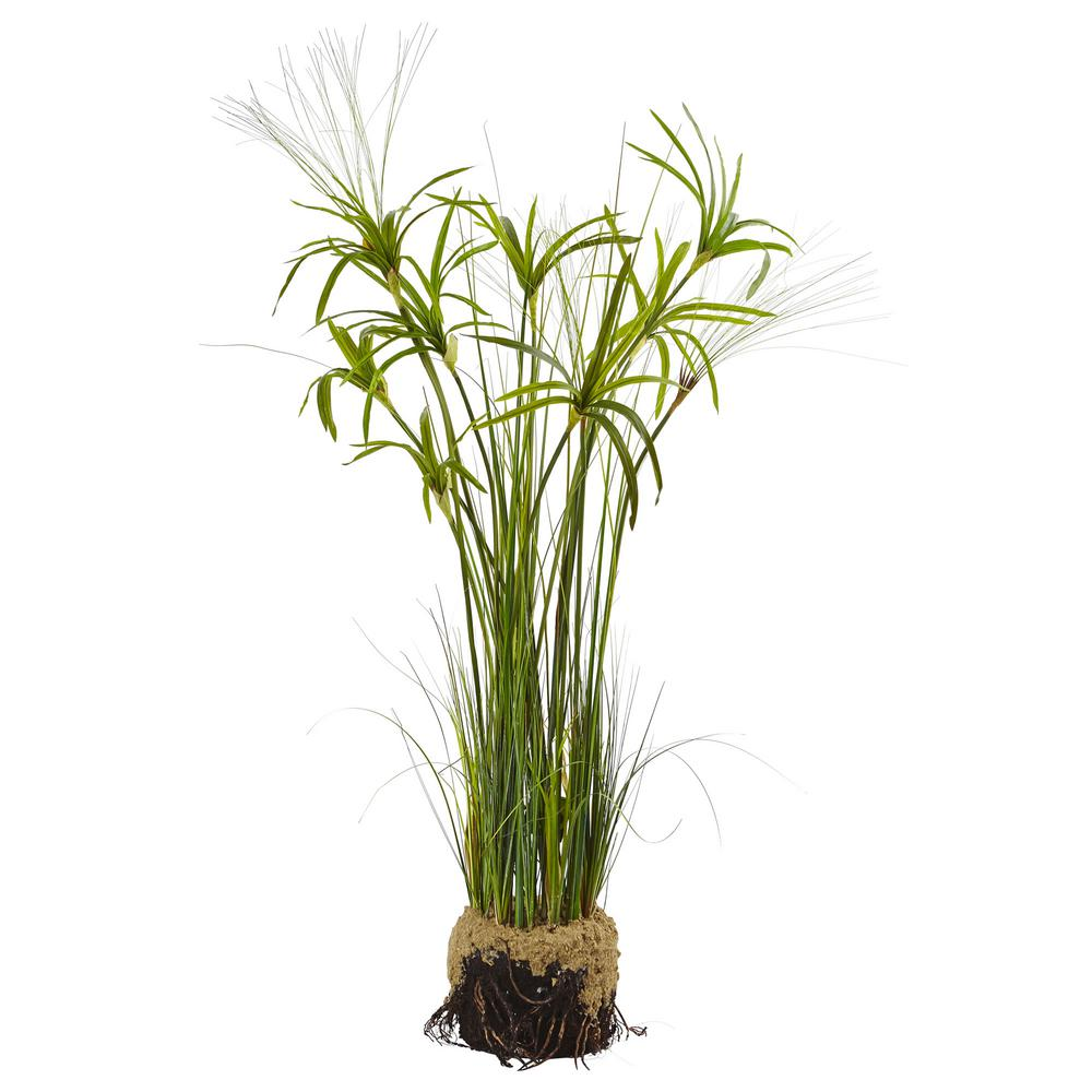 Nearly Natural Papyrus Plant With Faux Soil 4566 The