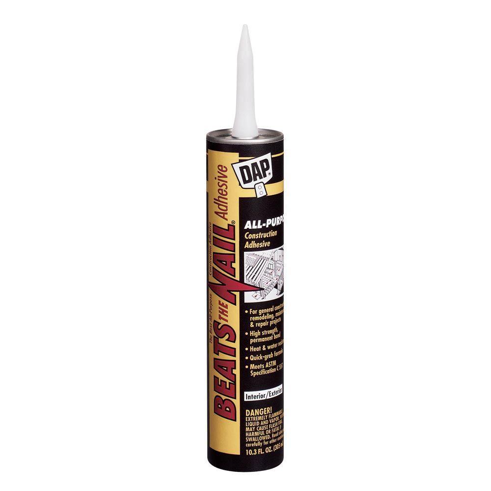DAP Beats the Nail 10.3 oz. All-Purpose Construction Adhesive (24-Pack)