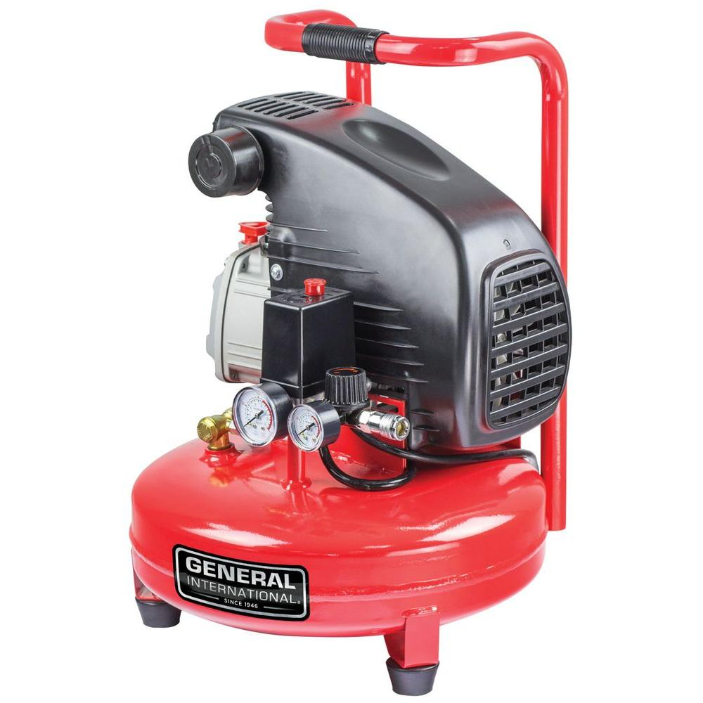 4 Gal. 1.5 HP Oil-Lubricated Portable Electric Pancake Air Compressor