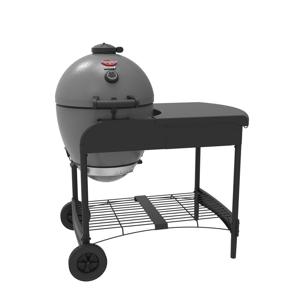 AKORN Kamado Kooker 20 in. Charcoal Grill in Grey with Cart