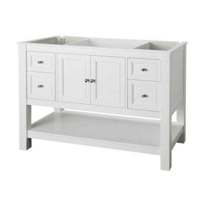 Gazette 48 in. W Bath Vanity Cabinet Only in White