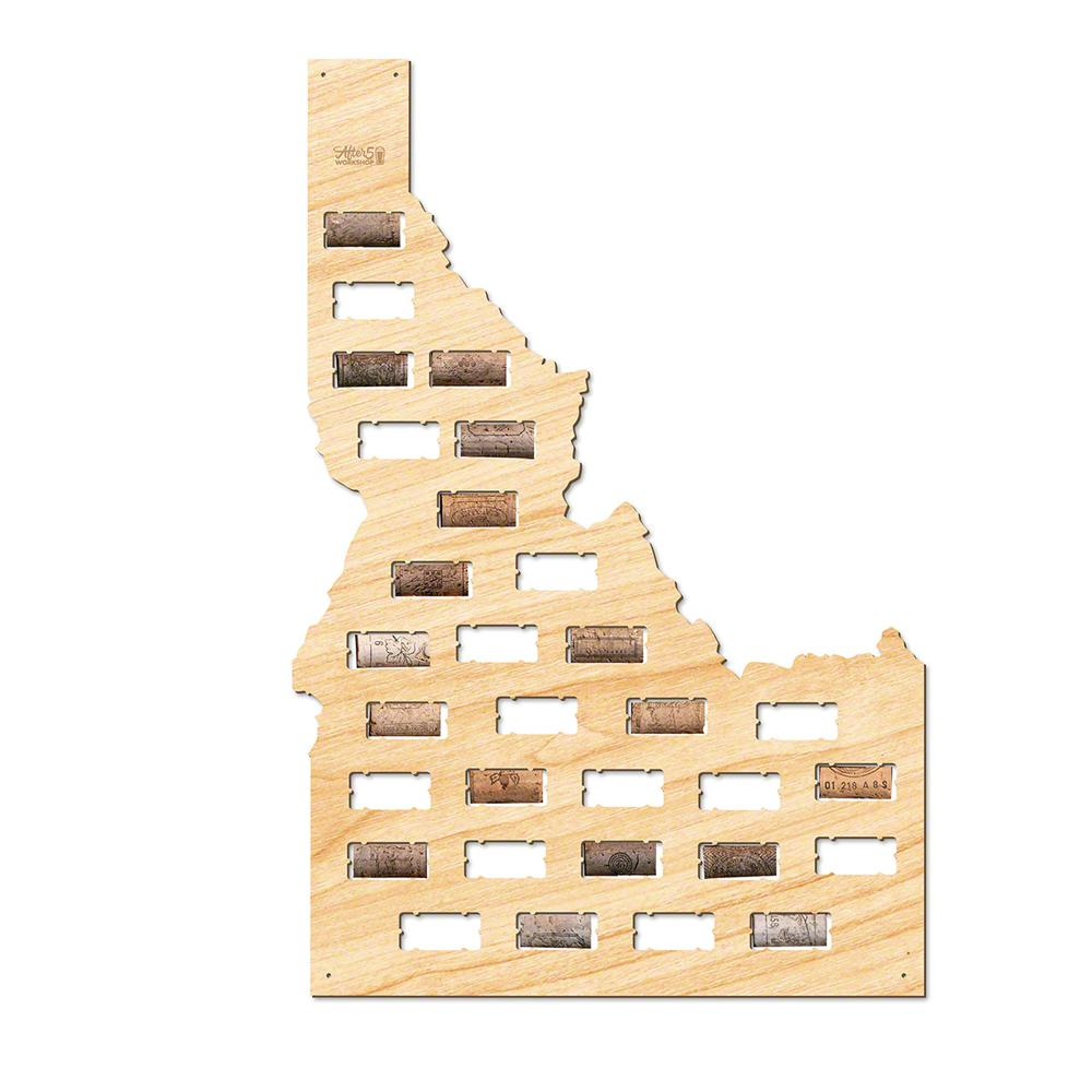 After 5 Workshop 22 in. x 15 in. Idaho Wine Cork Map-5799 - The Home ...